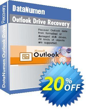 DataNumen Outlook Drive Recovery 優惠券,折扣碼 Education Coupon,促銷代碼: Coupon for educational and non-profit organizations