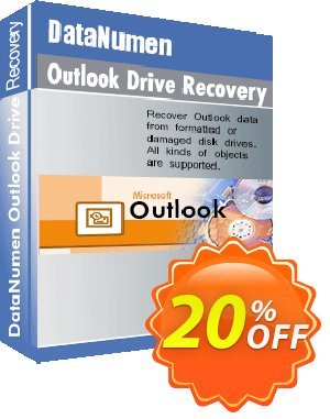 DataNumen Outlook Drive Recovery Coupon, discount Education Coupon. Promotion: Coupon for educational and non-profit organizations