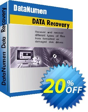 DataNumen Data Recovery Coupon, discount Education Coupon. Promotion: Coupon for educational and non-profit organizations