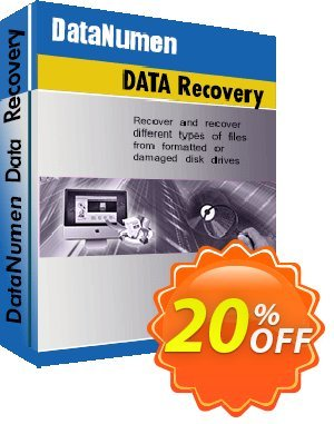 DataNumen Data Recovery Coupon discount Education Coupon. Promotion: Coupon for educational and non-profit organizations