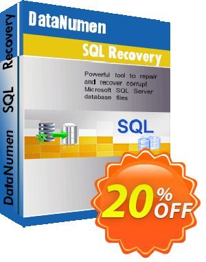 DataNumen SQL Recovery Coupon, discount Post Order Coupon. Promotion: Coupon for educational and non-profit organizations
