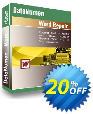 DataNumen Word Repair Coupon, discount Education Coupon. Promotion: Coupon for educational and non-profit organizations