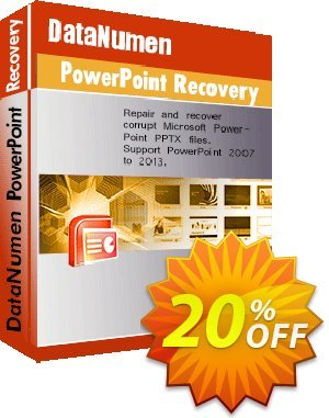 DataNumen PowerPoint Recovery Coupon discount Education Coupon. Promotion: Coupon for educational and non-profit organizations