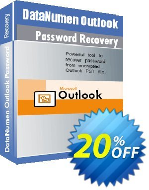 DataNumen Outlook Password Recovery Coupon, discount 20% OFF DataNumen Outlook Password Recovery, verified. Promotion: Amazing promo code of DataNumen Outlook Password Recovery, tested & approved