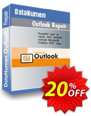 DataNumen Outlook Repair promotions Education Coupon. Promotion: Coupon for educational and non-profit organizations