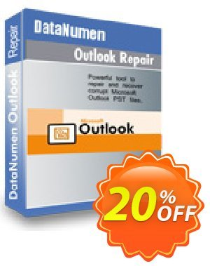 DataNumen Outlook Repair Coupon, discount Post Order Coupon. Promotion: Coupon for educational and non-profit organizations