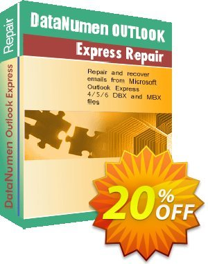 DataNumen Outlook Express Repair Coupon, discount Education Coupon. Promotion: Coupon for educational and non-profit organizations