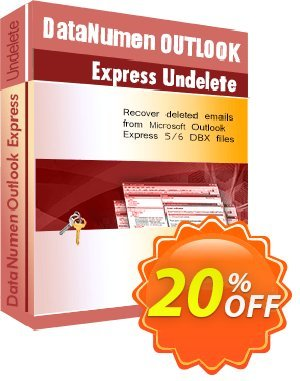DataNumen Outlook Express Undelete 優惠券,折扣碼 Education Coupon,促銷代碼: Coupon for educational and non-profit organizations