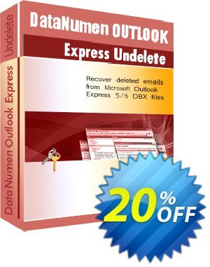 DataNumen Outlook Express Undelete Coupon, discount Post Order Coupon. Promotion: Coupon for educational and non-profit organizations