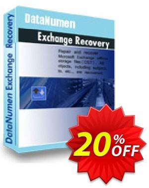 DataNumen Exchange Recovery Coupon, discount Post Order Coupon. Promotion: Coupon for educational and non-profit organizations