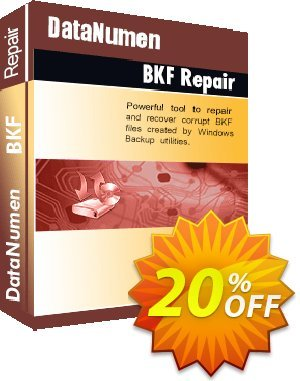 DataNumen BKF Repair Coupon, discount Post Order Coupon. Promotion: Coupon for educational and non-profit organizations