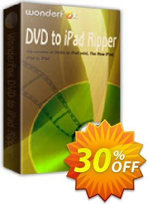 WonderFox DVD to iPad Ripper Coupon discount WonderFox DVD to iPad Ripper awful promo code 2020. Promotion: awful promo code of WonderFox DVD to iPad Ripper 2020