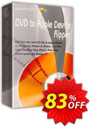 WonderFox DVD to Apple Device Ripper Coupon, discount DVD to Apple 70% OFF. Promotion: super sales code of WonderFox DVD to Apple Device Ripper 2021