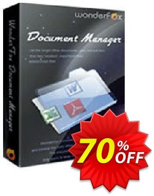 WonderFox Document Manager Coupon, discount 50% OFF on Document Manager. Promotion: awesome sales code of WonderFox Document Manager 2021