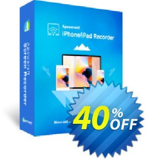 Apowersoft iPhone/iPad Recorder Family License (Lifetime) Coupon discount Apowersoft iPhone/iPad Recorder Family License (Lifetime) Staggering promotions code 2020. Promotion: Staggering promotions code of Apowersoft iPhone/iPad Recorder Family License (Lifetime) 2020