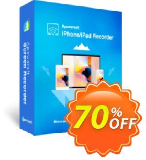 Apowersoft iPhone/iPad Recorder Yearly discount coupon Apowersoft iPhone/iPad Recorder Personal License (Yearly Subscription) wondrous offer code 2020 - marvelous deals code of Apowersoft iPhone/iPad Recorder Personal License (Yearly Subscription) 2020