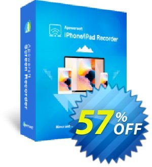 Apowersoft iPhone/iPad Recorder Business Lifetime Coupon, discount Apowersoft iPhone/iPad Recorder Commercial License (Lifetime Subscription) super promotions code 2019. Promotion: amazing discounts code of Apowersoft iPhone/iPad Recorder Commercial License (Lifetime Subscription) 2019