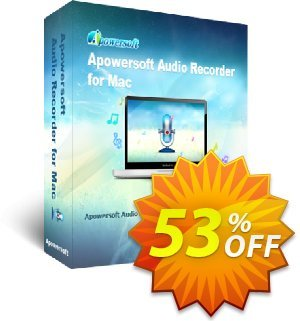 Apowersoft Audio Recorder for Mac Coupon, discount Apowersoft Audio Recorder for Mac Personal License big deals code 2019. Promotion: Apower soft (17943)