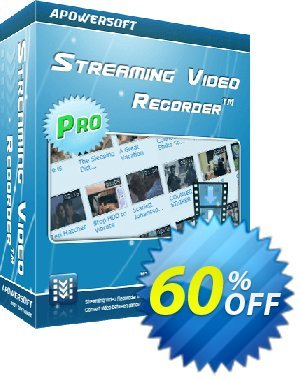 Apowersoft Streaming Video Recorder Coupon, discount Streaming Video Recorder Personal License best discounts code 2019. Promotion: Apower soft (17943)