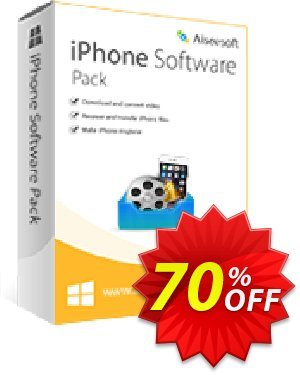 Aiseesoft iPhone Software Pack 프로모션 코드 40% Aiseesoft 프로모션: 40% Off for All Products of Aiseesoft