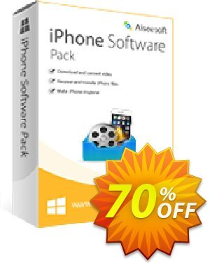 Aiseesoft iPhone Software Pack Coupon, discount 40% Aiseesoft. Promotion: 40% Off for All Products of Aiseesoft