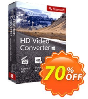 Aiseesoft HD Video Converter discount coupon Aiseesoft HD Video Converter excellent promotions code 2020 - 40% Off for All Products of Aiseesoft