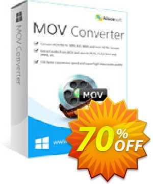 Aiseesoft MOV Converter Coupon, discount 40% Aiseesoft. Promotion: 40% Off for All Products of Aiseesoft