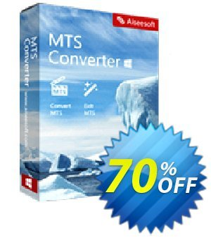 Aiseesoft MTS Converter Coupon, discount 40% Aiseesoft. Promotion: 40% Off for All Products of Aiseesoft