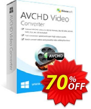 Aiseesoft AVCHD Video Converter Coupon, discount 70% OFF Aiseesoft AVCHD Video Converter Feb 2020. Promotion: Fearsome deals code of Aiseesoft AVCHD Video Converter, tested in February 2020