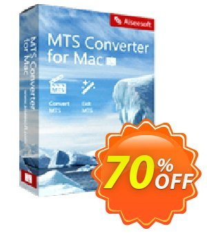 Aiseesoft MTS Converter for Mac Coupon discount 50% Aiseesoft. Promotion: 50% Off for All Products of Aiseesoft