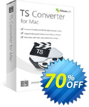 Aiseesoft TS Converter for Mac Coupon, discount 40% Aiseesoft. Promotion: 40% Off for All Products of Aiseesoft
