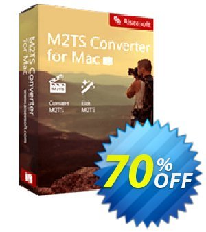Aiseesoft M2TS Converter for Mac Coupon, discount 40% Aiseesoft. Promotion: 40% Off for All Products of Aiseesoft