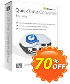Aiseesoft QuickTime Converter for Mac Coupon, discount 40% Aiseesoft. Promotion: 40% Off for All Products of Aiseesoft