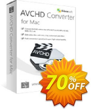 Aiseesoft AVCHD Converter for Mac Coupon, discount 50% Aiseesoft. Promotion: 50% Off for All Products of Aiseesoft