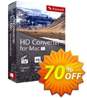 Aiseesoft HD Converter for Mac Coupon discount 40% Aiseesoft. Promotion: 40% Off for All Products of Aiseesoft