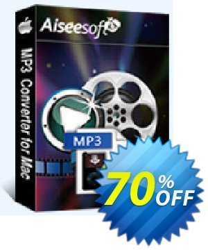 Aiseesoft MP3 Converter for Mac Coupon, discount . Promotion: 40% Off for All Products of Aiseesoft