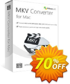 Aiseesoft MKV Converter for Mac Coupon, discount 40% Aiseesoft. Promotion: 40% Off for All Products of Aiseesoft