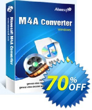 Aiseesoft M4A Converter Coupon, discount Aiseesoft M4A Converter awesome deals code 2020. Promotion: 40% Off for All Products of Aiseesoft