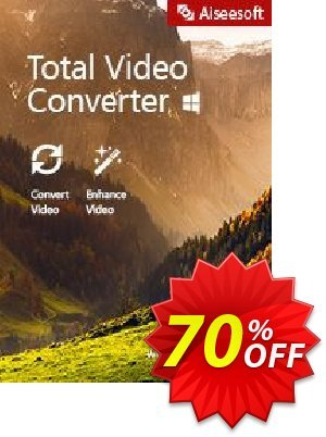 Aiseesoft Total Video Converter offering sales Aiseesoft Total Video Converter awesome deals code 2020. Promotion: 40% Off for All Products of Aiseesoft