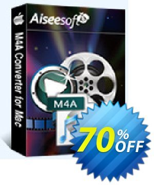 Aiseesoft M4A Converter for Mac Coupon, discount Aiseesoft M4A Converter for Mac imposing promotions code 2019. Promotion: 40% Off for All Products of Aiseesoft