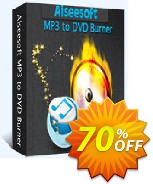 Aiseesoft MP3 to DVD Burner discount coupon  - 40% Off for All Products of Aiseesoft