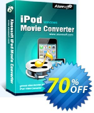Aiseesoft iPod Movie Converter Coupon, discount . Promotion: 40% Off for All Products of Aiseesoft