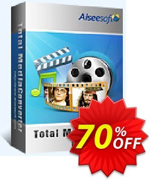 Aiseesoft Total Media Converter Coupon discount 40% Aiseesoft. Promotion: 40% Off for All Products of Aiseesoft