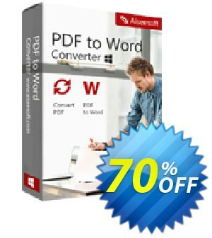 Aiseesoft PDF to Word Converter Coupon, discount 40% Aiseesoft. Promotion: 40% Off for All Products of Aiseesoft
