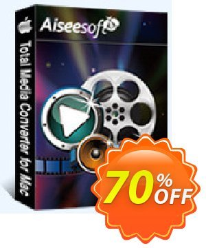 Aiseesoft Total Media Converter for Mac Coupon, discount 40% Aiseesoft. Promotion: 40% Off for All Products of Aiseesoft