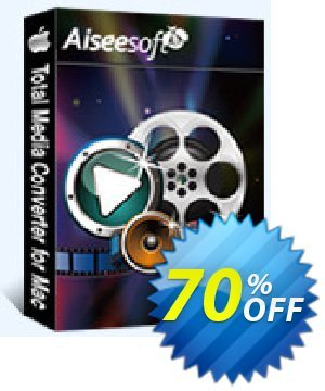 Aiseesoft Total Media Converter for Mac 프로모션 코드 40% Aiseesoft 프로모션: 40% Off for All Products of Aiseesoft