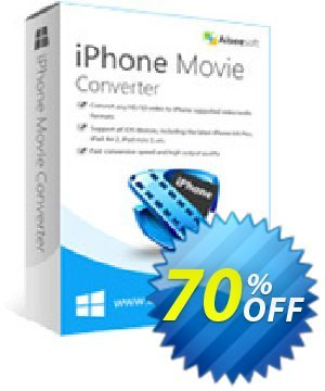 Aiseesoft iPhone Movie Converter Coupon discount 40% Aiseesoft - 40% Off for All Products of Aiseesoft
