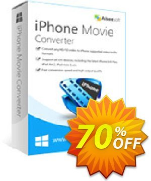 Aiseesoft iPhone Movie Converter 프로모션 코드 40% Aiseesoft 프로모션: 40% Off for All Products of Aiseesoft