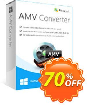 Aiseesoft AMV Converter Coupon, discount Aiseesoft AMV Converter Exclusive offer code 2020. Promotion: Exclusive offer code of Aiseesoft AMV Converter 2020