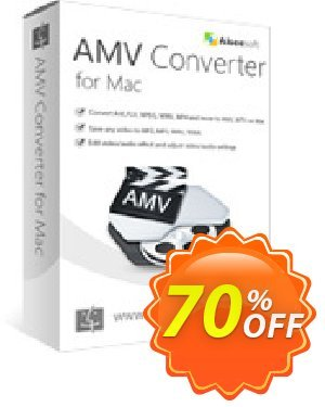 Aiseesoft AMV Converter for Mac 優惠券,折扣碼 40% Aiseesoft,促銷代碼: 40% Off for All Products of Aiseesoft